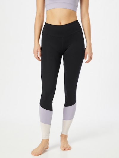 Hey Honey Workout Pants in Mauve / Black / White, View model