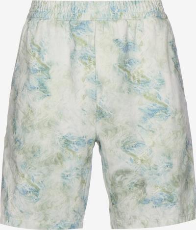 Carhartt WIP Pantalon ' Marbel ' en bleu clair / vert clair / blanc, Vue avec produit