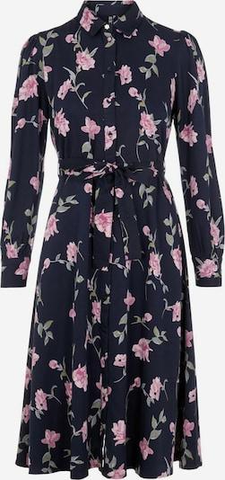 PIECES Blusenkleid in marine / pink, Produktansicht