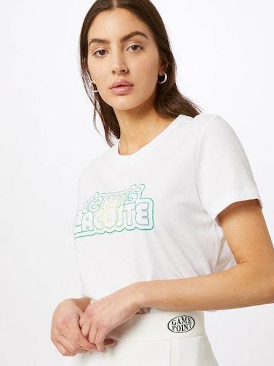Lacoste Sport Sport-Shirt in gelb / grün / weiß: Frontalansicht