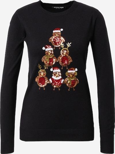 Fashion Union Trui 'ROBIN TREE' in de kleur Bruin / Rood / Zwart / Wit, Productweergave