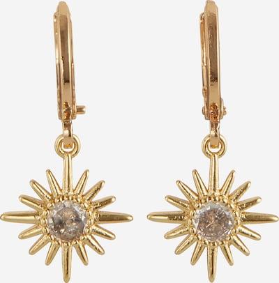 Fräulein Wunder Boucles d'oreilles en or / transparent, Vue avec produit