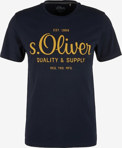 s.Oliver T-Shirt in navy / gelb, Produktansicht