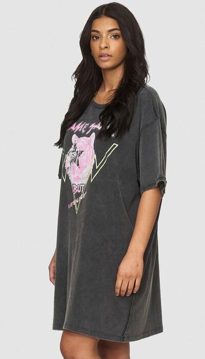 Cotton Candy Jerseykleid 'PASQUINA' in grau / mischfarben, Modelansicht