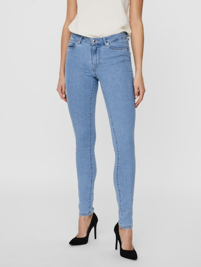 VERO MODA Jeggings 'Judy' i blue denim, Modelvisning