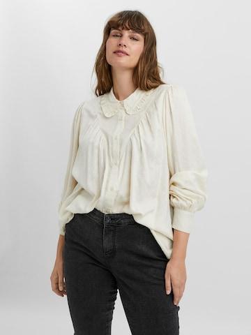 Vero Moda Curve Bluse 'Nanna' in Beige