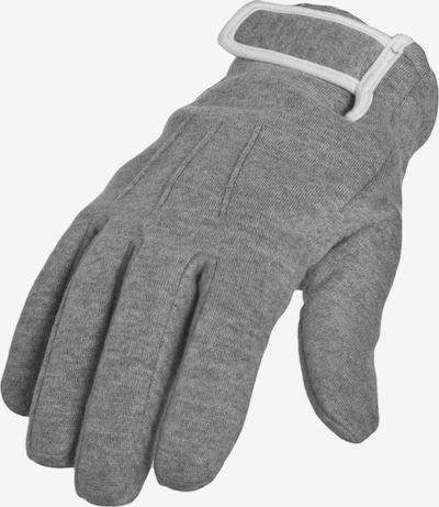 Urban Classics Fingerhandschuhe in grau / weiß, Produktansicht