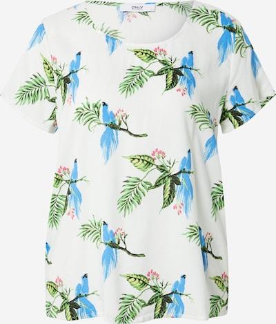 ONLY Shirt 'STORMI' in de kleur Lichtblauw / Jade groen / Lichtgroen / Donkergroen / Wit, Productweergave
