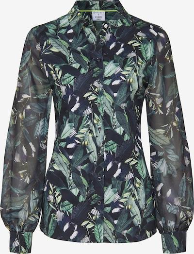 DESOTO Bluse in nachtblau / grün / weiß, Produktansicht