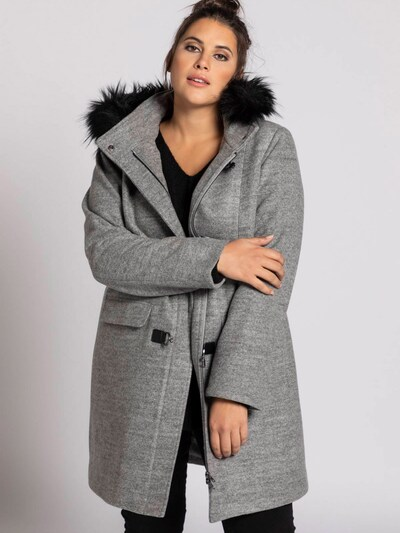 Ulla Popken Mantel in graumeliert, Modelansicht