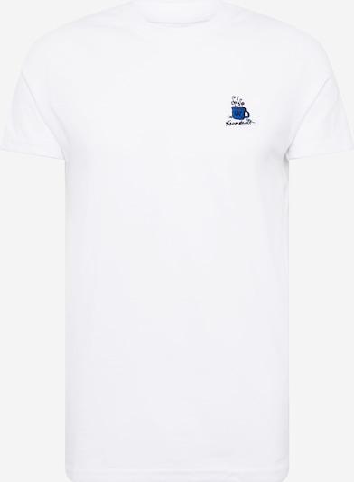Kronstadt T-Shirt 'Timmi' in nachtblau / himmelblau / offwhite, Produktansicht