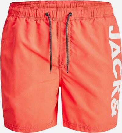JACK & JONES Sportzwembroek in de kleur Neonoranje / Wit, Productweergave