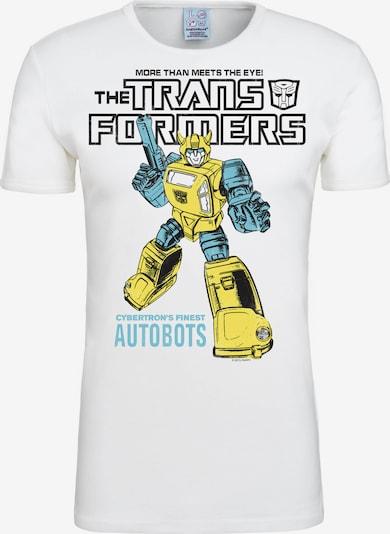 LOGOSHIRT T-Shirt Bumblebee Autobots in beige / weiß: Frontalansicht