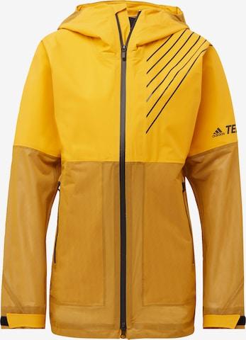 adidas Terrex Outdoor Jacket '3-Layer Zupahike' in Yellow