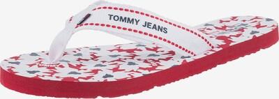 Tommy Jeans Zehentrenner in taubenblau / rot / weiß, Produktansicht
