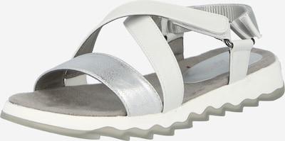 TOM TAILOR Sandalias en gris plateado / blanco, Vista del producto