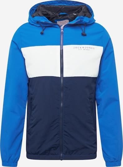 JACK & JONES Jacke in blau / navy / weiß, Produktansicht