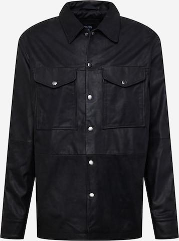 melns BOSS Casual Krekls