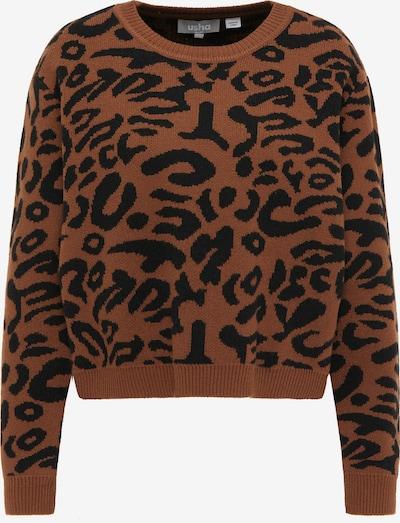 Pulover Usha pe maro / negru, Vizualizare produs