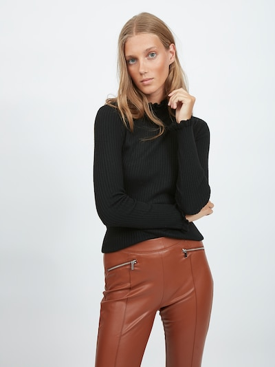 VILA Pullover in schwarz, Modelansicht