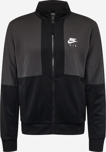Nike Sportswear Суичъри с качулка в тъмносиво / черно / бяло, Преглед на продукта