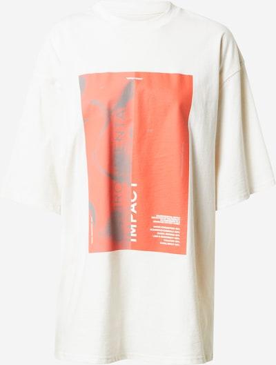 NU-IN T-shirt 'Zero Impact' en gris foncé / rouge / blanc, Vue avec produit
