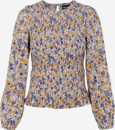 PIECES Bluse in gelb / lila / weiß, Produktansicht