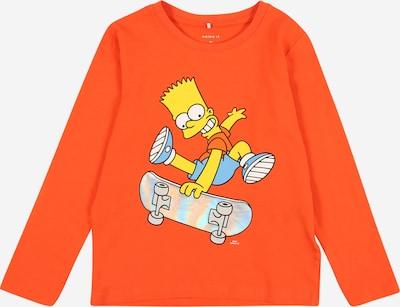 NAME IT Shirt 'Simpsons' in hellblau / gelb / neonorange / schwarz / weiß, Produktansicht