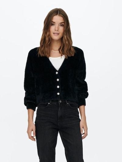 ONLY Strickjacke 'Piumo' in schwarz, Modelansicht
