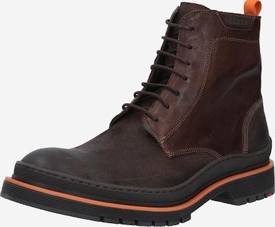 LLOYD Čizme sa vezicama u tamno smeđa / narančasta, Pregled proizvoda