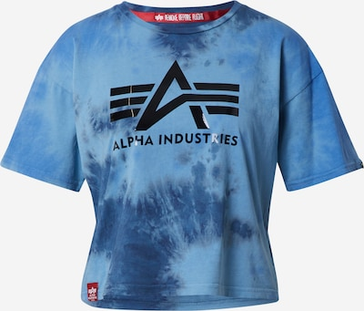 ALPHA INDUSTRIES Camiseta 'Big Batik' en azul / negro, Vista del producto