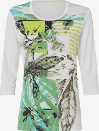 Olsen Shirt 'Edda' in hellgrün / schwarz / weiß, Produktansicht