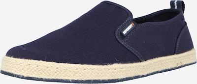 Superdry Спортни обувки Slip On в бежово / нейви синьо, Преглед на продукта