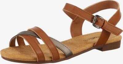 ambellis Sandale in cognac, Produktansicht
