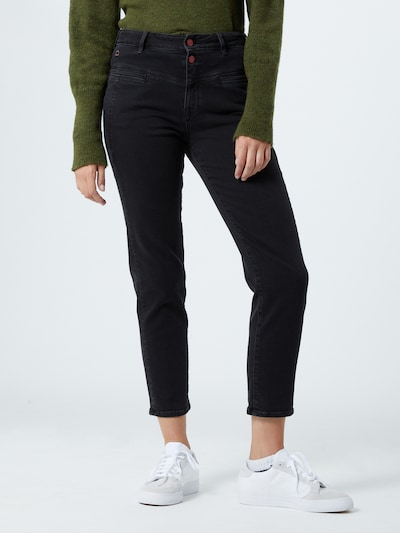 Dawn Jeans '80s Carrot' in black denim, Modelansicht