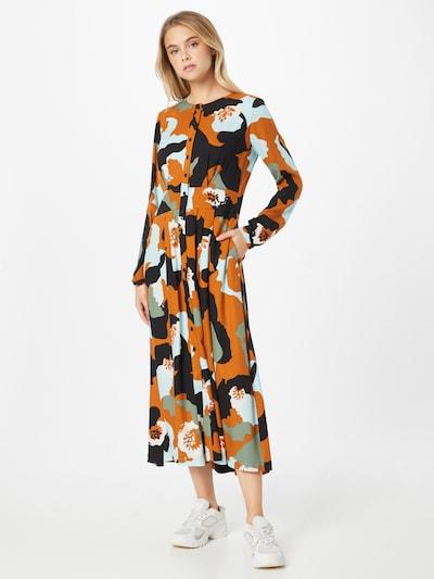 SKFK Kleid 'HAIZEA' in de kleur Sinaasappel / Zwart / Wit, Modelweergave