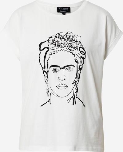 SELECTED FEMME Shirt 'Frida' in schwarz / weiß, Produktansicht