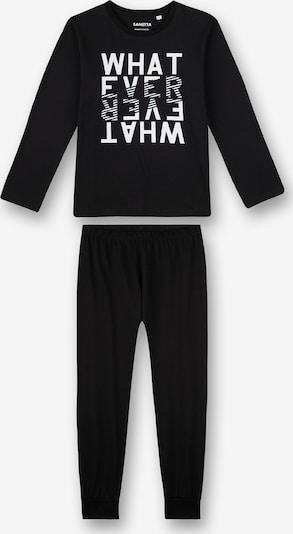 SANETTA Pajamas in Black / White, Item view