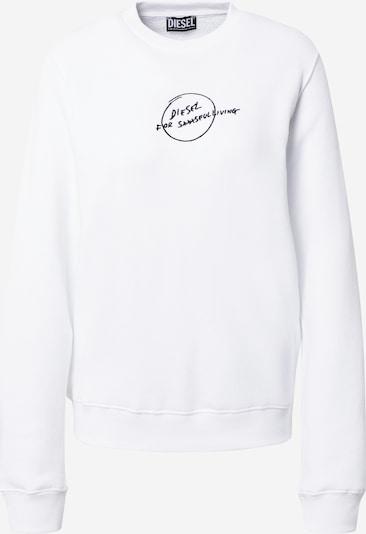 DIESEL Sweatshirt in de kleur Zwart / Wit, Productweergave