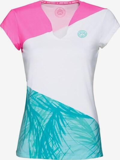 BIDI BADU T-Shirt 'Bella 2.0' in türkis / pink / weiß, Produktansicht
