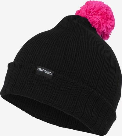 Urban Classics Beanie in pink / schwarz, Produktansicht