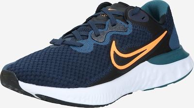 NIKE Laufschuh 'Renew Run 2' in dunkelblau / orange, Produktansicht