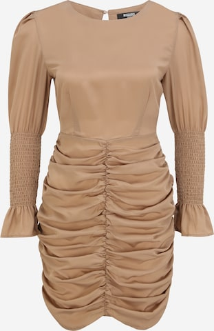 Missguided Petite Cocktail Dress in Beige