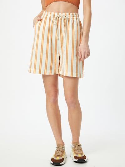Soft Rebels Pantalon 'SRKiara' en orange / blanc, Vue avec modèle
