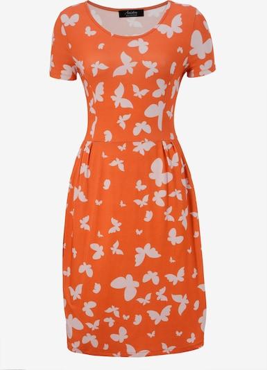 Aniston SELECTED Sommerkleid in orange / weiß, Produktansicht