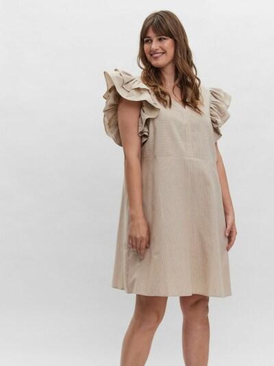 Vero Moda Curve Minikleid in beige, Modelansicht