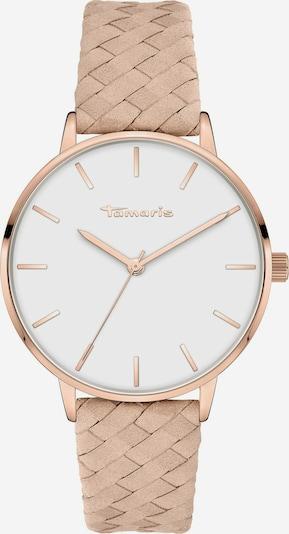TAMARIS Uhr in rosegold / puder / weiß, Produktansicht