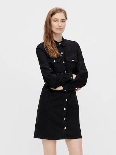 PIECES Shirt Dress 'Perry' in Black denim, View model