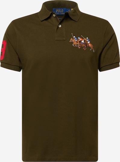 Polo Ralph Lauren Poloshirt in blau / braun / dunkelgrün / rot / weiß, Produktansicht