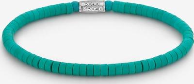Rebel & Rose Armband in türkis / silber, Produktansicht